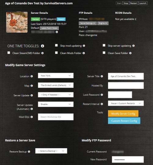 Conan exiles run dedicated server y